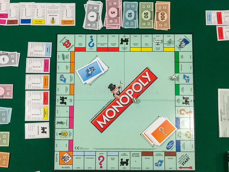Playing Monopoly Board Game Editorial Stock Image
