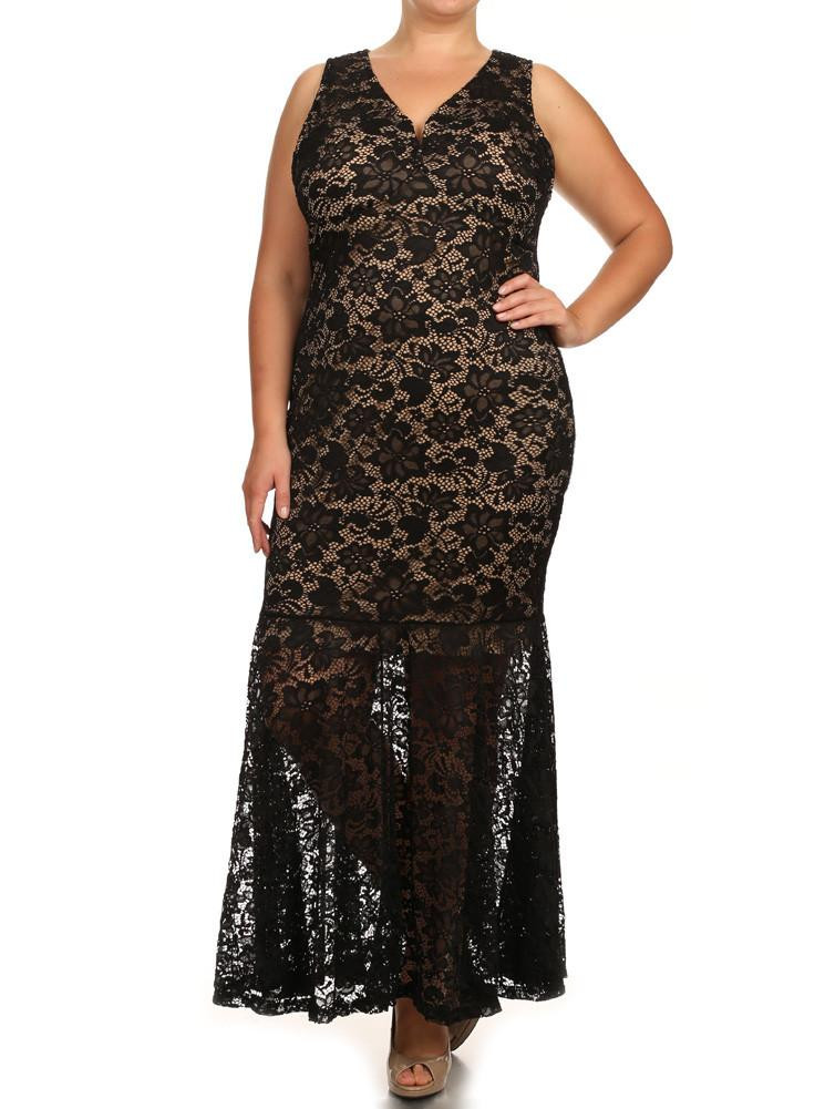Best Of Plus Size Pretty In Floral Crochet Mermaid Maxi Black Plus Size Crochet Dress Of Attractive 46 Ideas Plus Size Crochet Dress