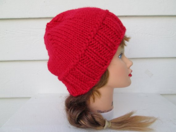 Best Of Ponytail Hat Ponytail Hole Hat Red Hat Chunky Knit by Crochet Hat with Ponytail Hole Of Attractive 47 Pics Crochet Hat with Ponytail Hole