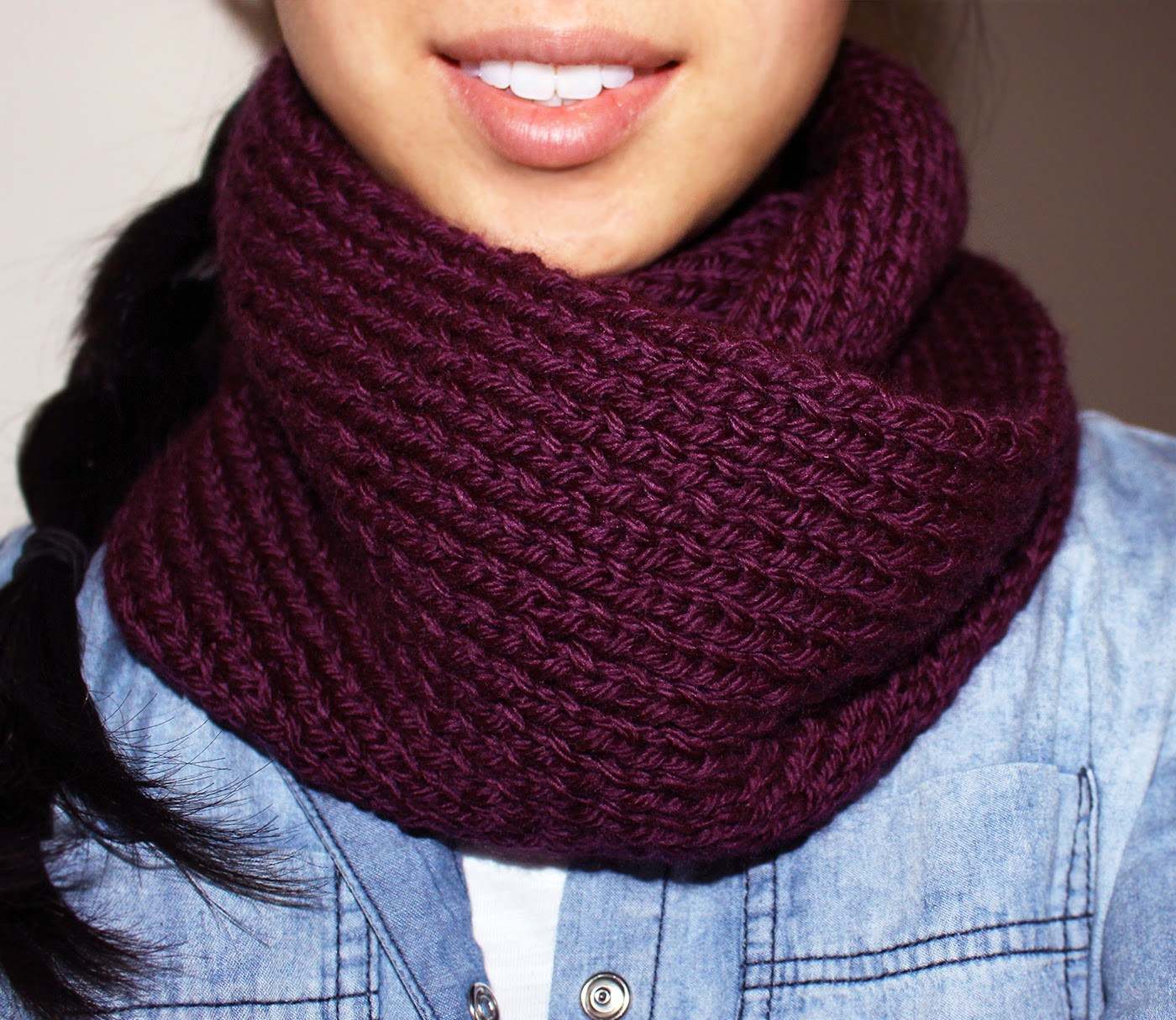 Best Of Purllin Acai Infinity Circle Scarf [free Knitting Pattern] Knit Circle Scarf Of Brilliant 47 Photos Knit Circle Scarf