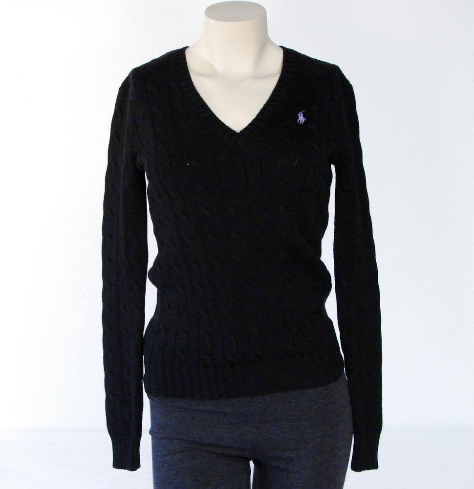 Best Of Ralph Lauren Black Cable Knit V Neck Cotton Sweater Nwt V Neck Cable Knit Sweater Of Great 44 Pictures V Neck Cable Knit Sweater