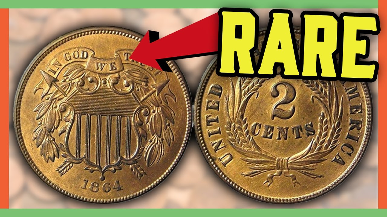 RARE 2 CENT COINS WORTH MONEY TWO CENT PENNIES TO LOOK
