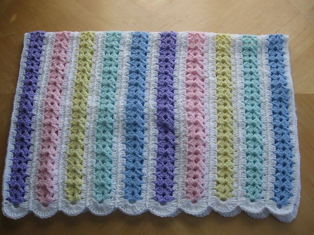 Ravelry Mile A Minute Baby Afghan archived pattern by