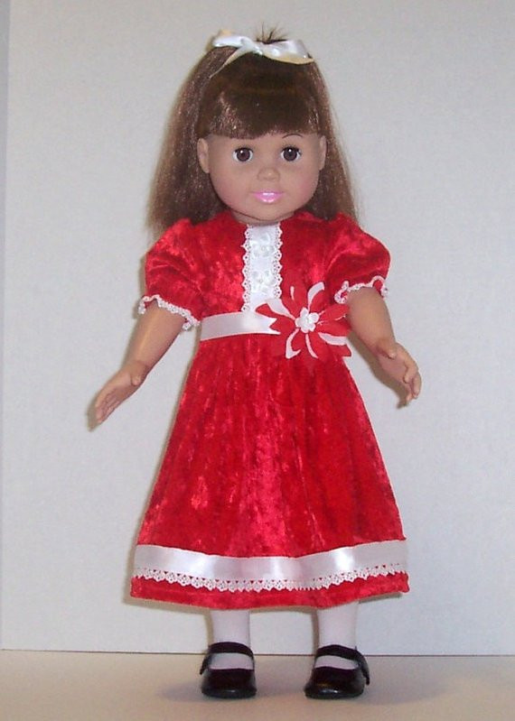 Best Of Red Christmas Dress for American Girl Doll Velour Lace Ribbon American Girl Christmas Dress Of Lovely 47 Models American Girl Christmas Dress