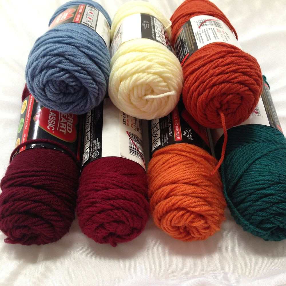 Red Heart Discontinued Classic Yarn 4 ply