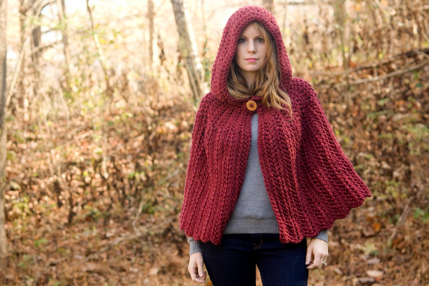 Best Of Red Hooded Cape Maroon Crochet Capelet Cranberry by Hooded Cape Pattern Of Great 42 Pictures Hooded Cape Pattern