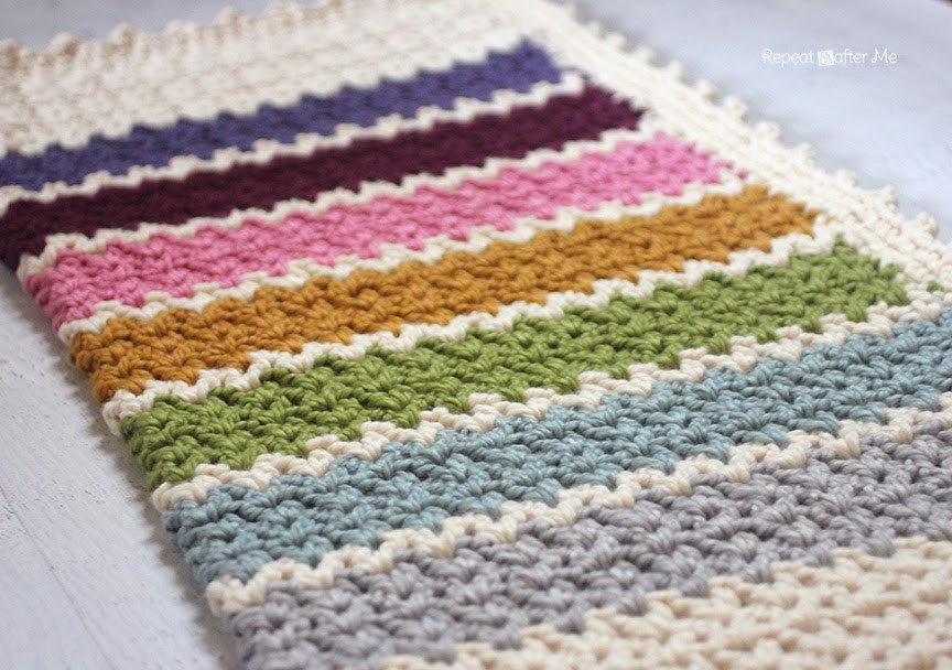 Repeat Crafter Me Quick and Easy Chunky Crochet V Stitch