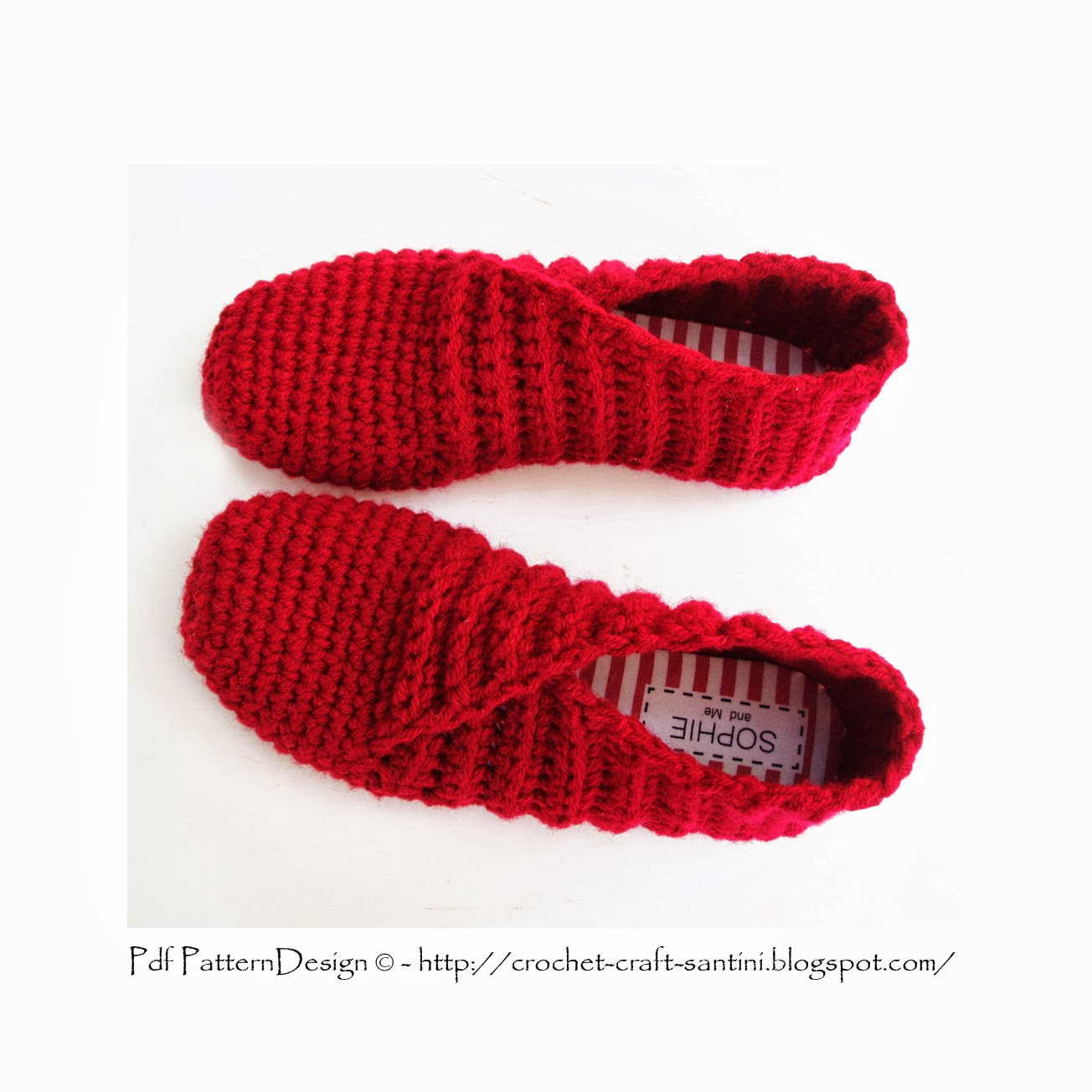 RIBBED and WRAPPED CROCHET SLIPPERS