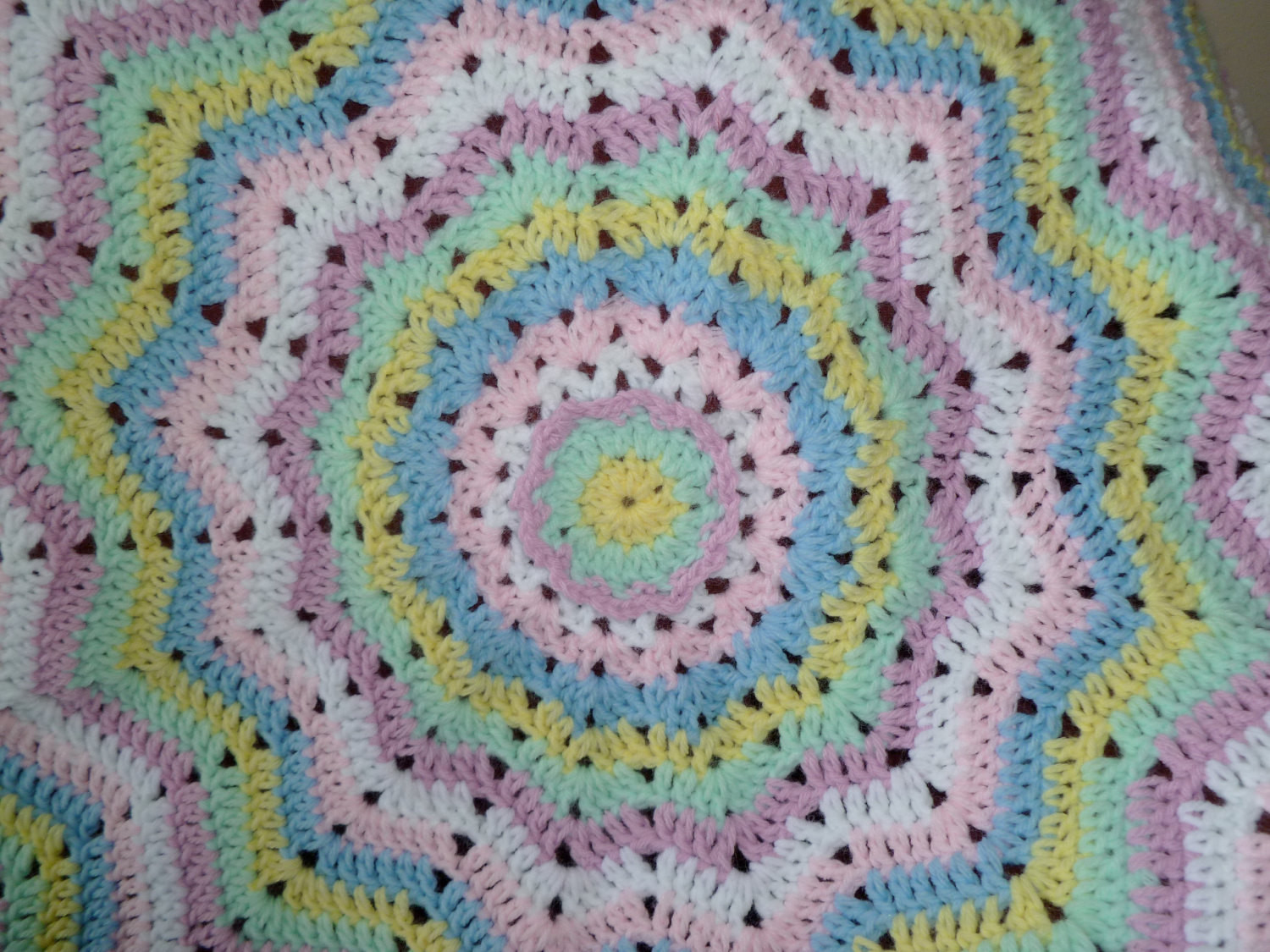 Best Of Round Rainbow Ripple Afghan Baby Blanket Throw by Round Crochet Blanket Of Fresh 46 Models Round Crochet Blanket