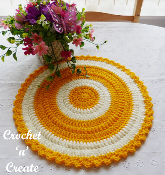 Best Of Round Table Mat Free Crochet Pattern Crochet N Create Crochet Table Mat Of Gorgeous 47 Ideas Crochet Table Mat