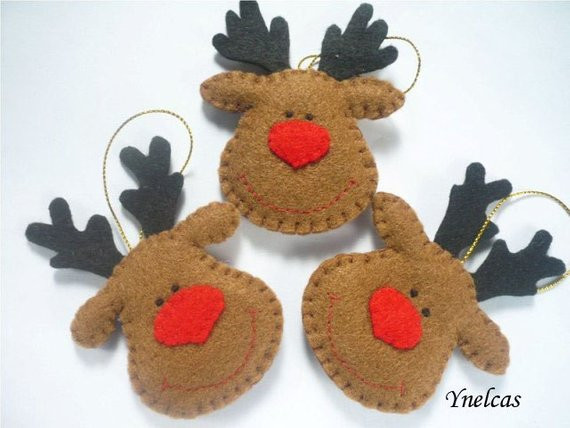Best Of Rudolph the Red Nosed Reindeer Felt Christmas ornament Christmas Reindeer ornaments Of Adorable 44 Pictures Christmas Reindeer ornaments
