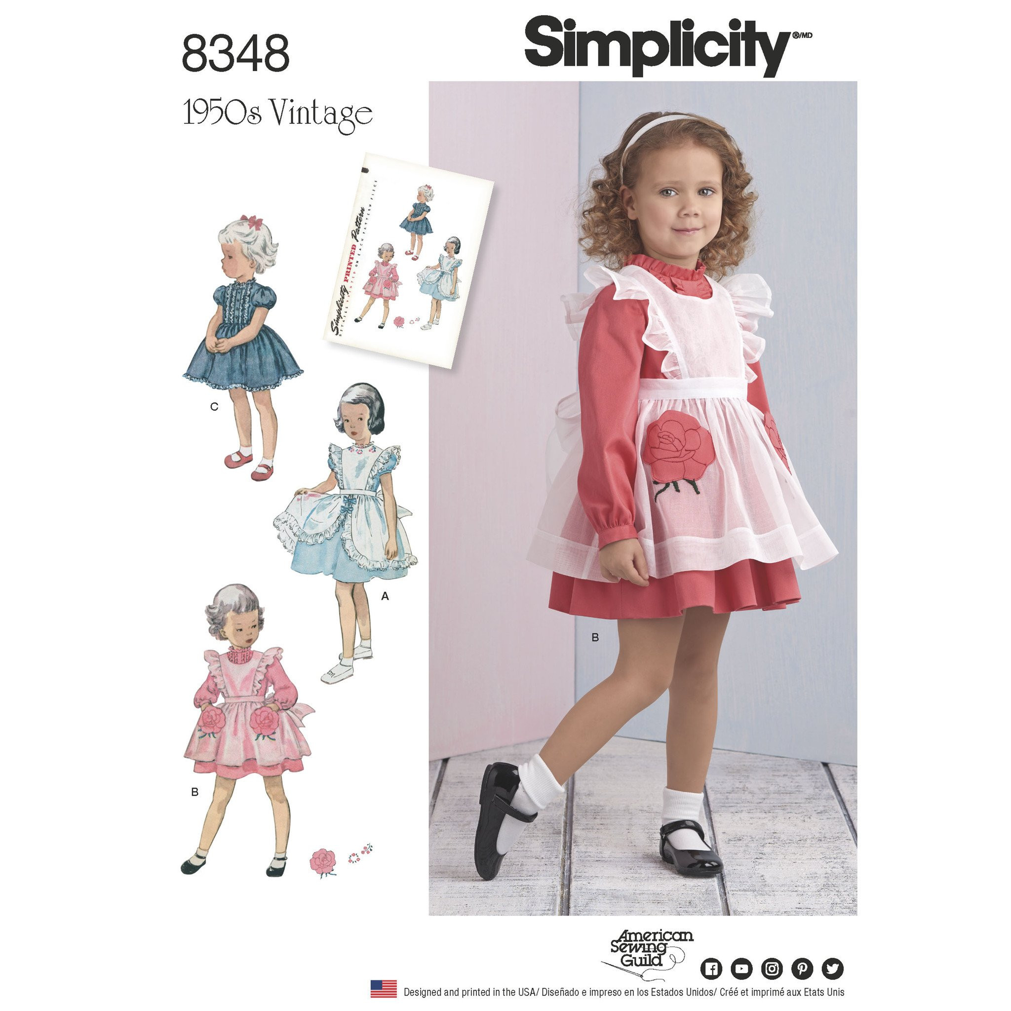 S8348 Toddlers Dress and Pinafore — jaycotts