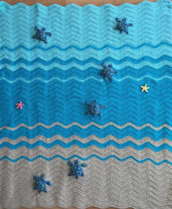 Best Of Sea Turtle and Sea Star Blanket Crochet Crib Blanket Baby Sea Turtle Crochet Blanket Pattern Of Beautiful Premier Sea Turtle Blanket Free Download – Premier Yarns Sea Turtle Crochet Blanket Pattern