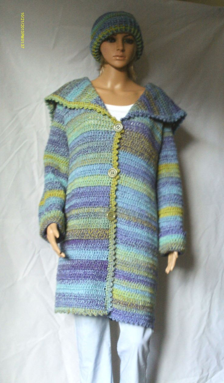 Shaded blanket coat Pattern from Simple Stylish crochet