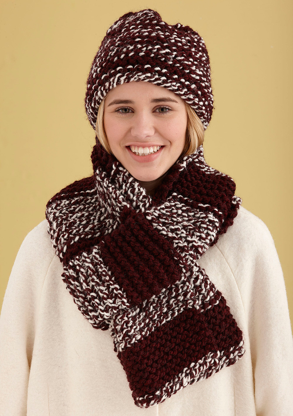 Best Of Simple Knit Hat and Scarf In Lion Brand Wool Ease Thick Lion Brand Free Patterns Of Perfect 46 Pictures Lion Brand Free Patterns