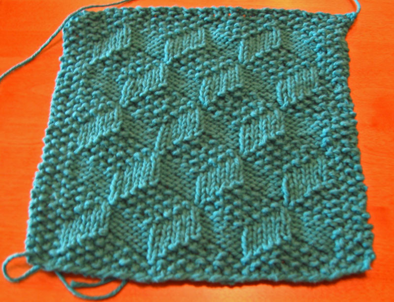 Slanted Squares Dishcloth