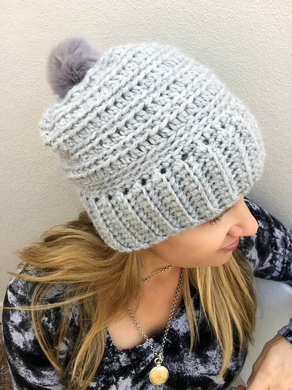 Best Of Slouchy Ribbed Beanie Pattern for Chunky Yarn Crochet Hat Chunky Yarn Crochet Hat Pattern Of Lovely 50 Models Chunky Yarn Crochet Hat Pattern