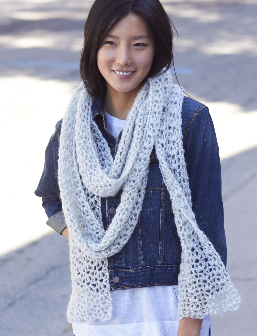 Best Of Snow Puff Scarf In Patons Lace Crochet Lace Scarf Of Incredible 41 Models Crochet Lace Scarf