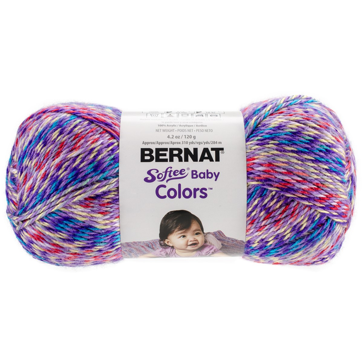 Softee Baby Yarn Colors Purple Rainbow