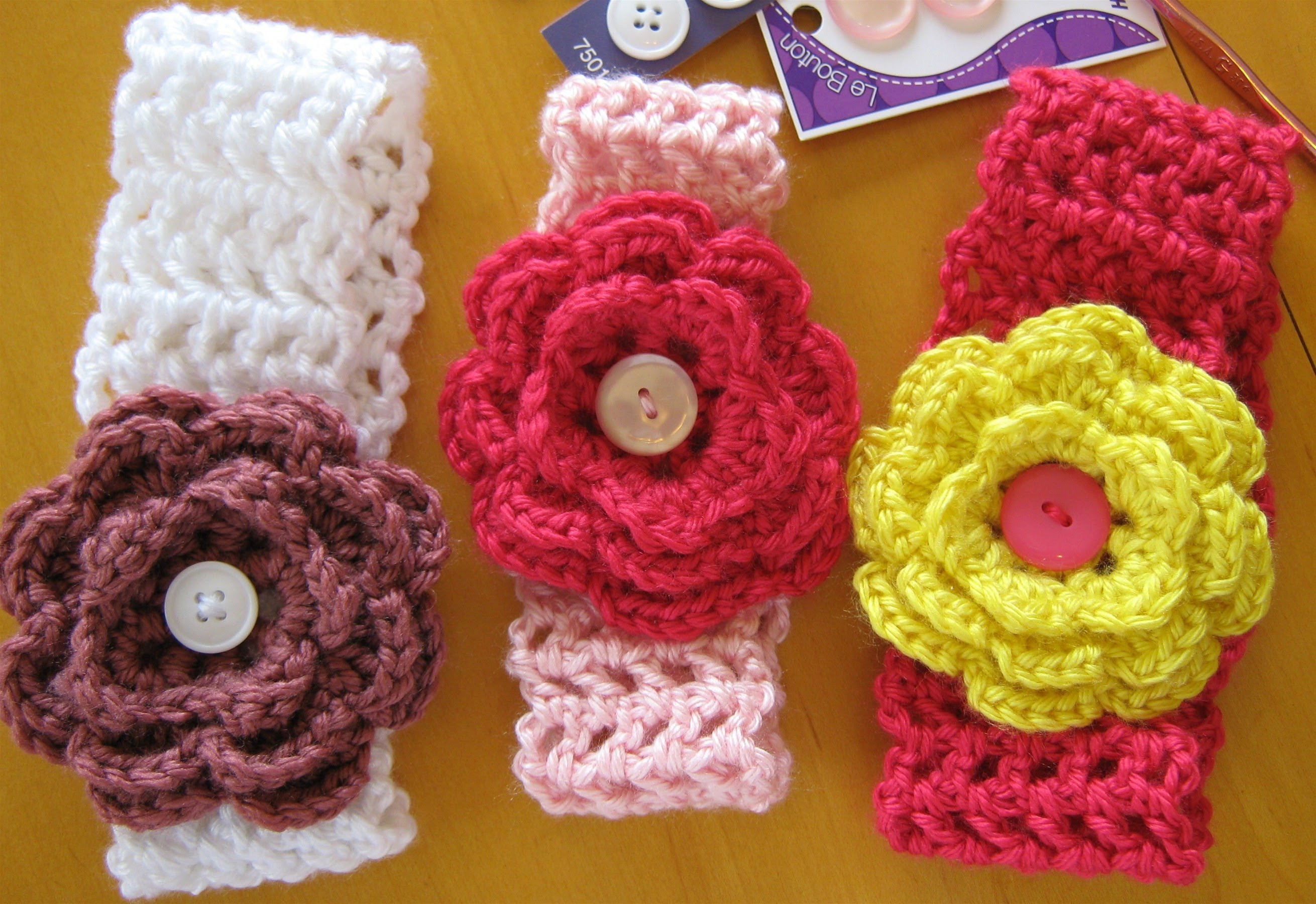 stretchy crochet baby headband pattern