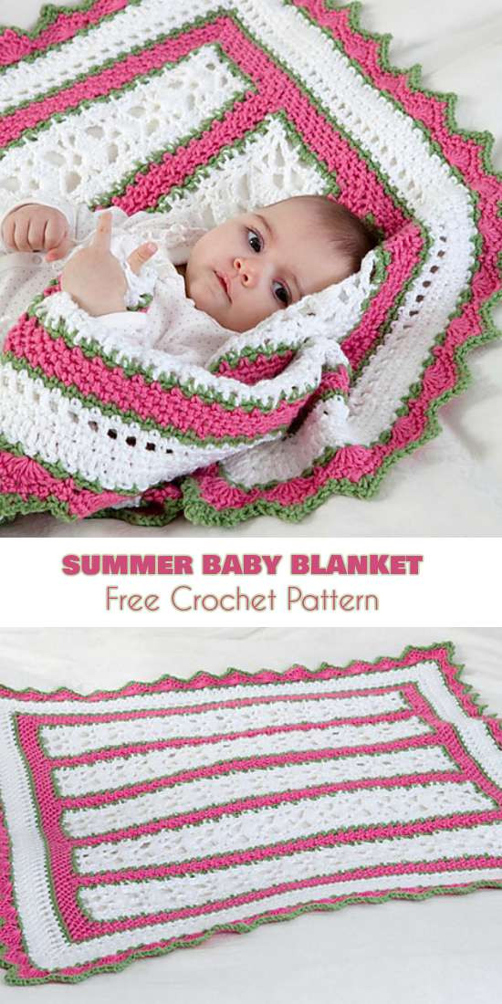 Best Of Summer Baby Blanket with butterfly Motif [crochet Pattern Baby Blankets for Summer Of Gorgeous 48 Pictures Baby Blankets for Summer