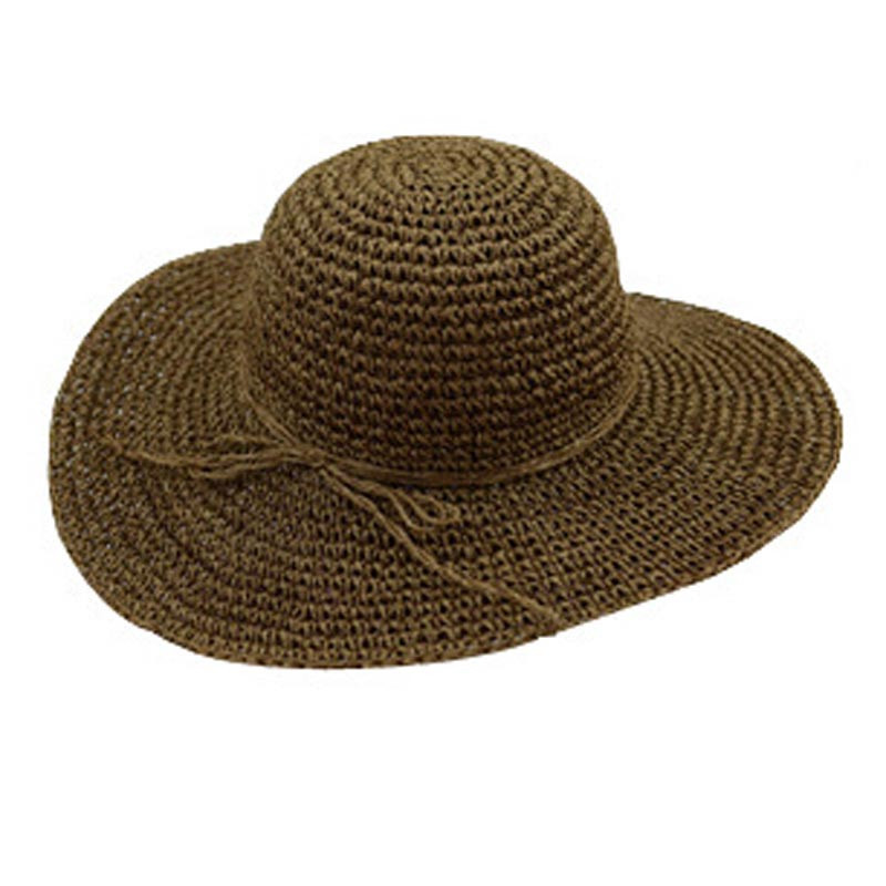 Summer Women Fashion Handmade Crochet Sun Hat Straw Beach