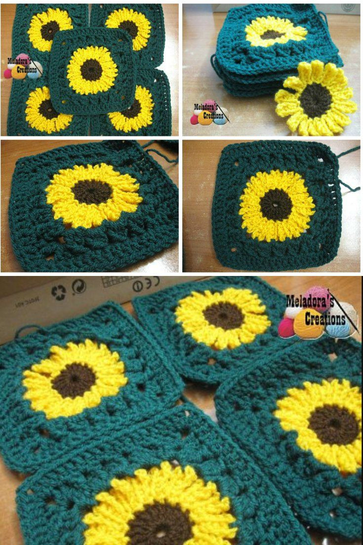 Best Of Sunflower Granny Square Pattern Video Tutorial Redone In Sunflower Crochet Blanket Of Contemporary 48 Ideas Sunflower Crochet Blanket
