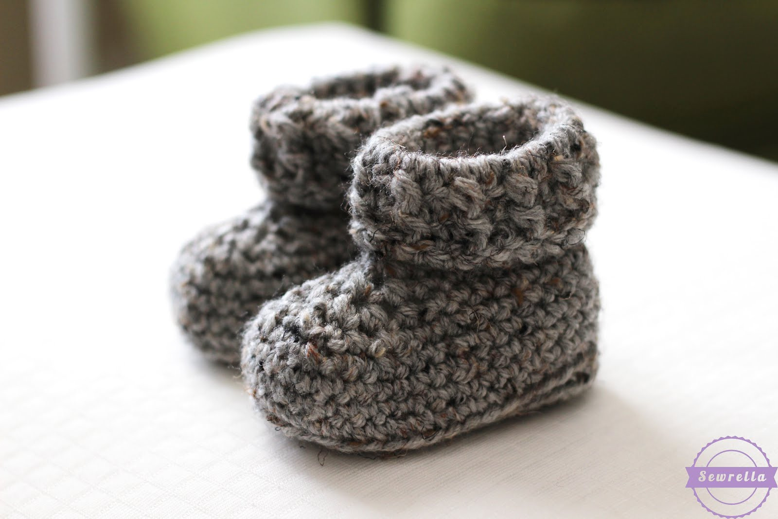 Best Of the Parker Crochet Baby Booties Sewrella Crochet Baby socks Of New Berry Baby Booties Knitting Pattern Easy Crochet Baby socks