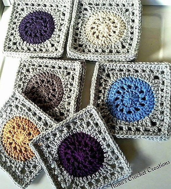 This 7″ Granny Square Does A Little Magic