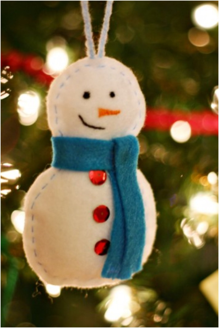 Top 10 DIY Felt Christmas Tree Ornaments Top Inspired
