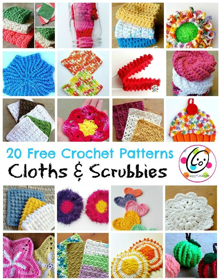 cute cleaners 20 free crochet cloth and scrubby patterns