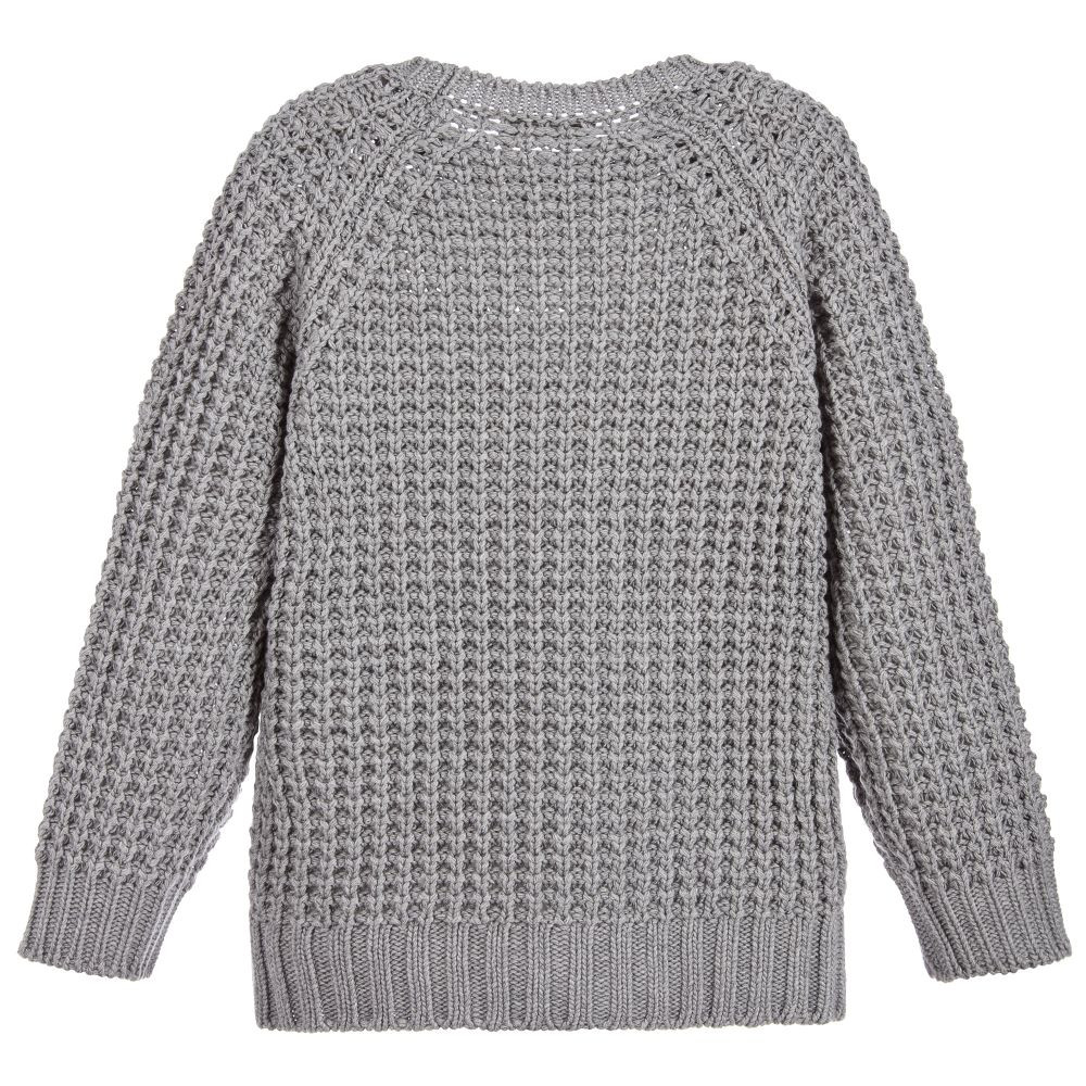 Trussardi Boys Grey Knitted Sweater