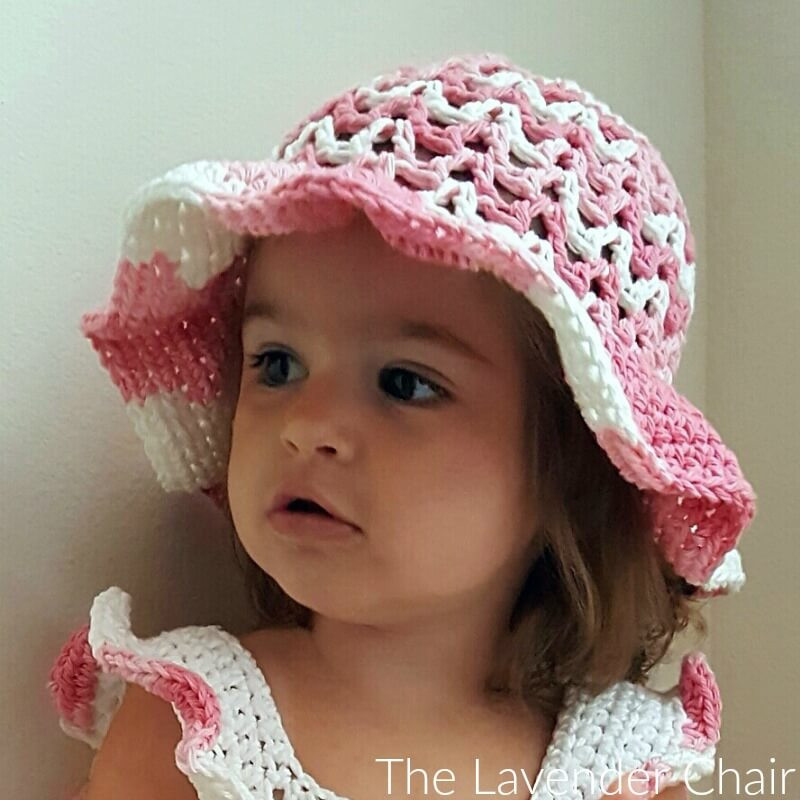 Valeries Sun Hat Infant Child Crochet Pattern The