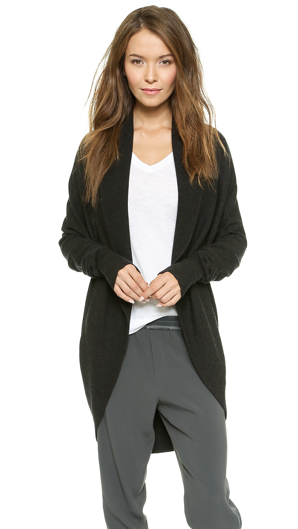 Best Of Vince Circle Cardigan Heather Carbon In Gray Heather Circle Cardigan Of Adorable 41 Ideas Circle Cardigan