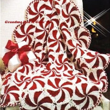 Best Of Vintage Crochet Christmas Pattern From Grandmahaditgoin On Peppermint Throw Of Great 46 Ideas Peppermint Throw