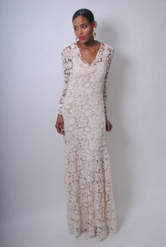 Best Of Vintage Inspired Ivory Lace Crochet Sheer Simple Wedding Ivory Crochet Dress Of Brilliant 41 Ideas Ivory Crochet Dress