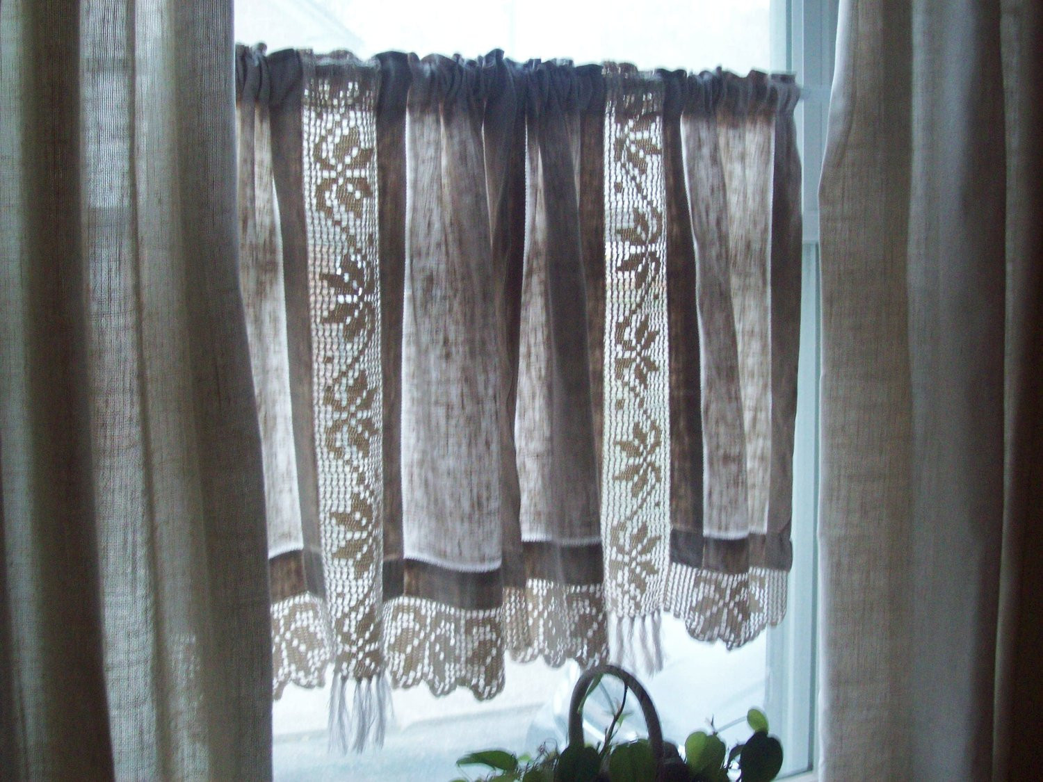 Best Of Vintage Linen Curtains Hand Crocheted Cotton Lace Curtains Crochet Curtains Of Marvelous 47 Pictures Crochet Curtains