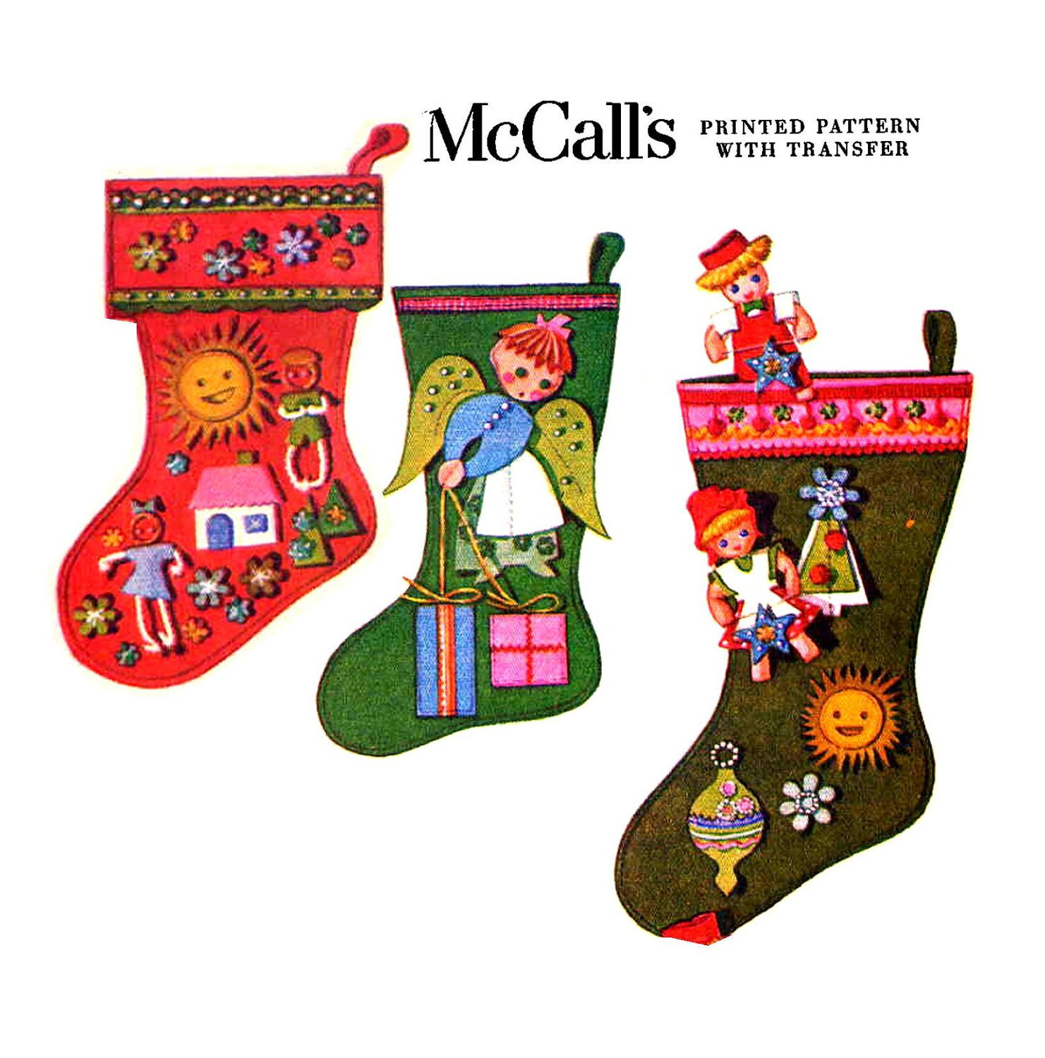 Best Of Vintage Mccall S 2411 Felt Christmas Stockings Sewing Christmas Stocking Sewing Pattern Of Marvelous 44 Models Christmas Stocking Sewing Pattern