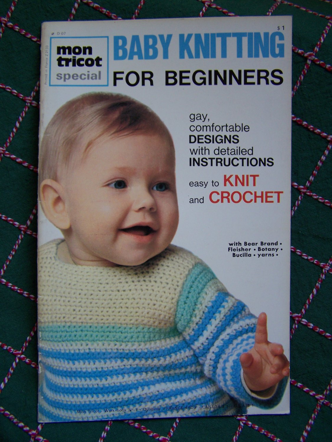 Vintage Mon Tricot Baby Knitting Patterns for Beginners
