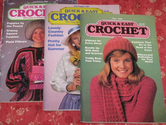 Best Of Vintage Quick and Easy Crochet Magazines July Aug 1987 Fall Quick and Easy Crochet Magazine Of Amazing 40 Models Quick and Easy Crochet Magazine