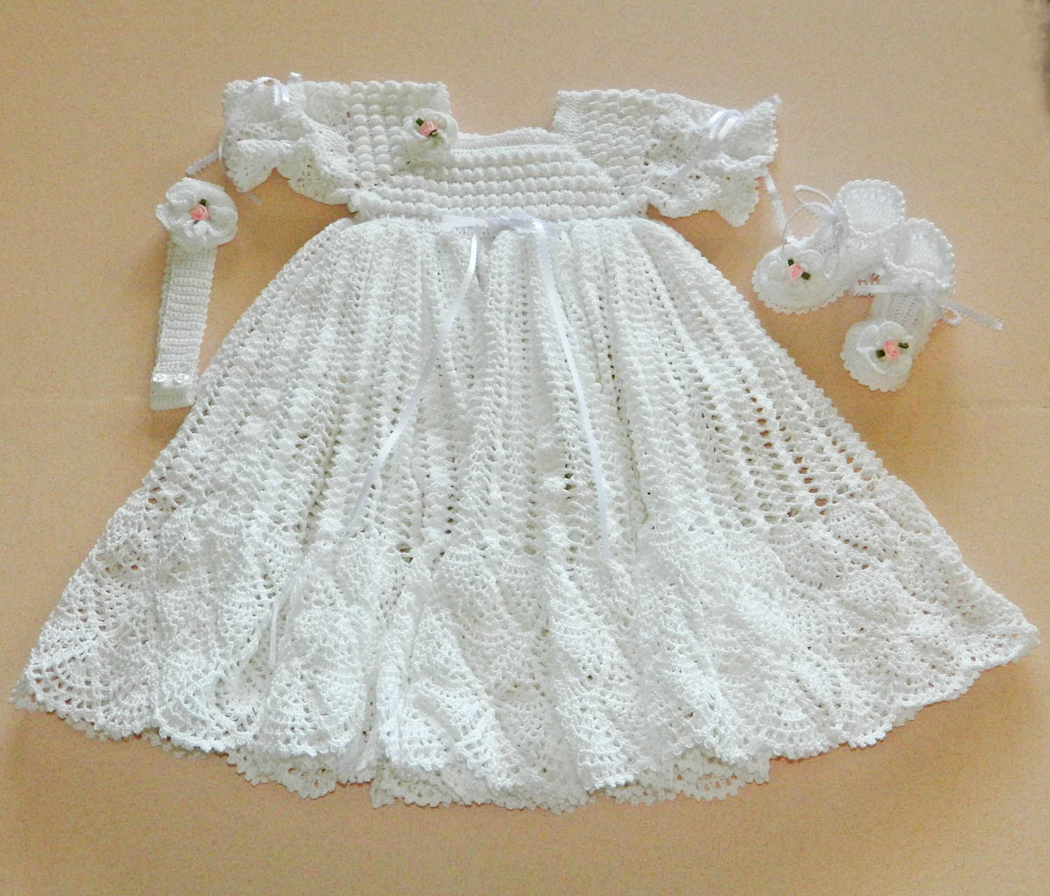 Best Of White Crochet Christening Gown with White Crochet Slippers Baptism Gown Pattern Of Fresh 43 Ideas Baptism Gown Pattern