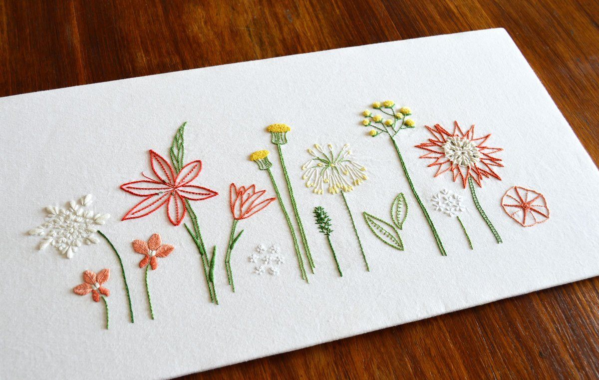 Best Of Wild Flowers Hand Embroidery Pattern Modern Embroidery Modern Embroidery Patterns Of Brilliant 49 Pics Modern Embroidery Patterns
