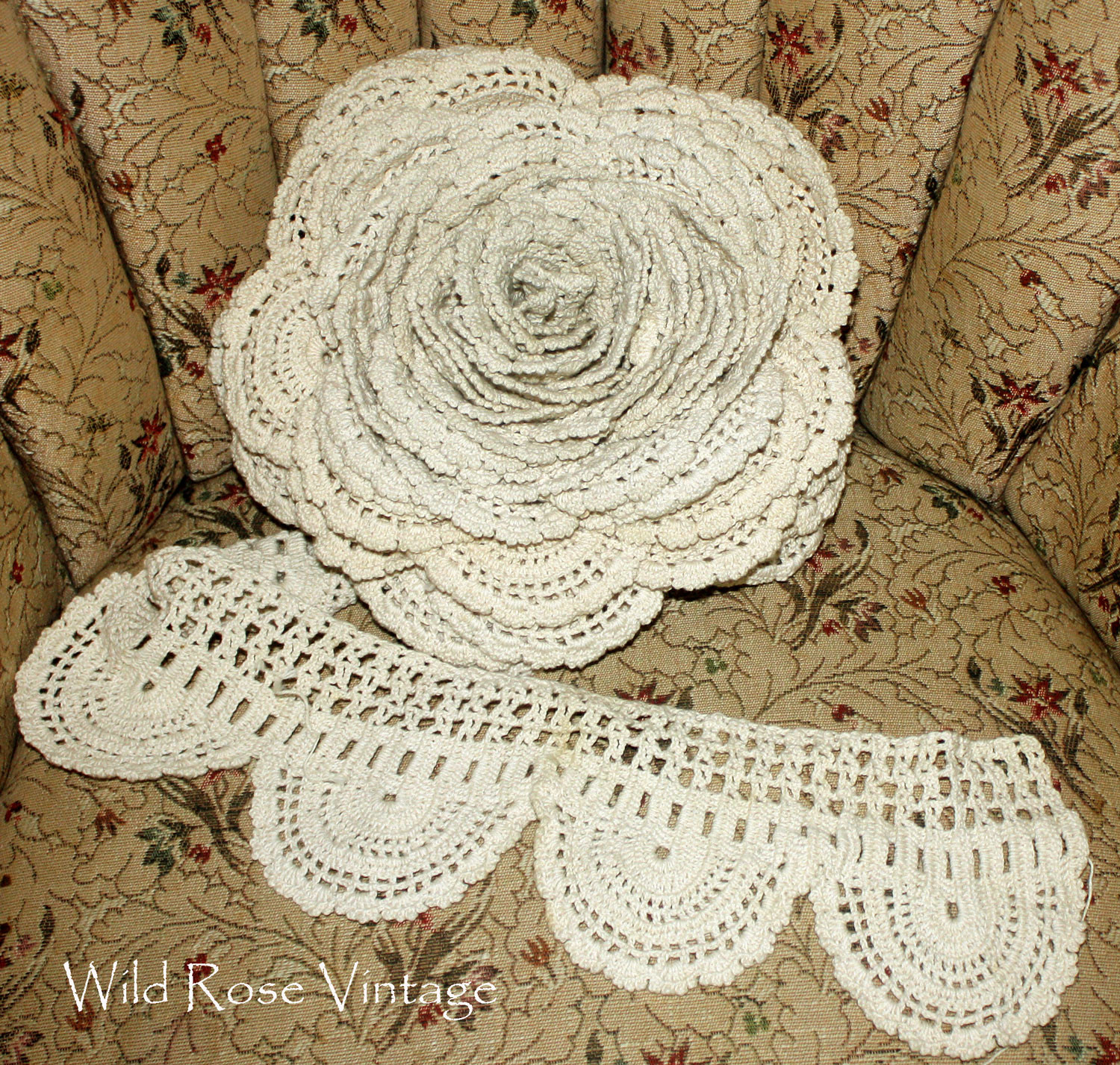 Best Of Wild Rose Vintage Giant Crochet Lace Rose and Other Treasures Laces Crochet Of Beautiful 47 Images Laces Crochet