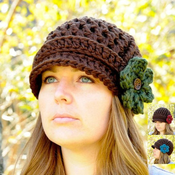 Best Of Women S Hat Crochet Newsboy Hat for Women Brimmed Womens Crochet Beanie Of Perfect 44 Photos Womens Crochet Beanie