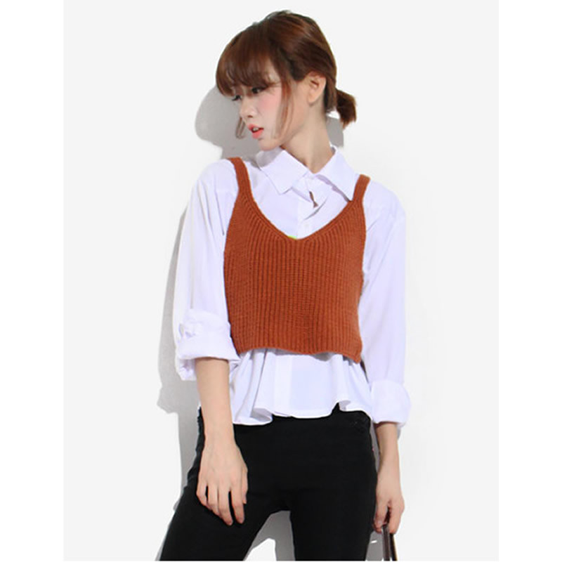 womens cropped sweater vest