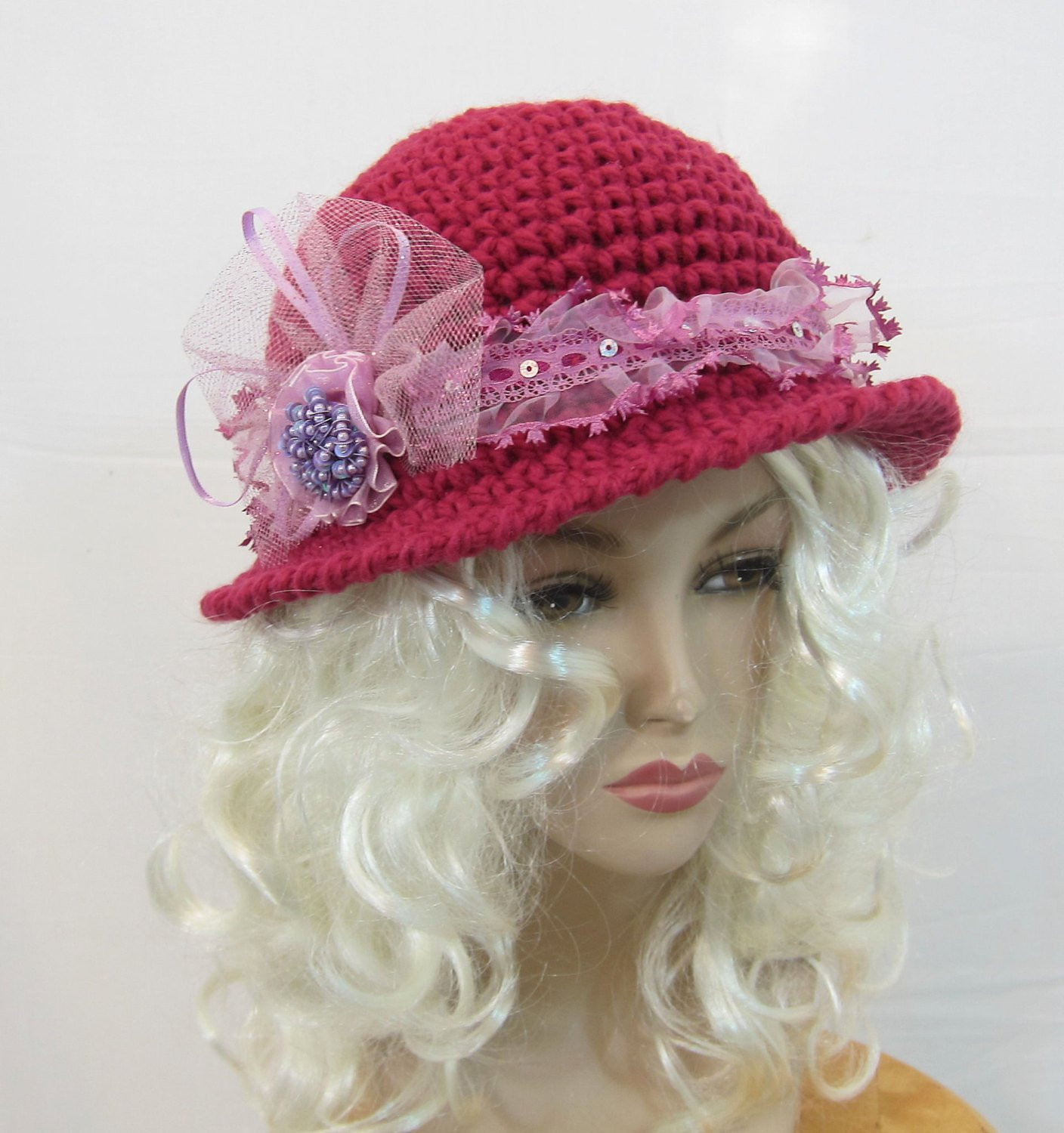 Best Of Womens Hat Crochet Hat Cloche Hat Bucket Hat Pink Hat Pink Crochet Hat Of Great 43 Models Pink Crochet Hat