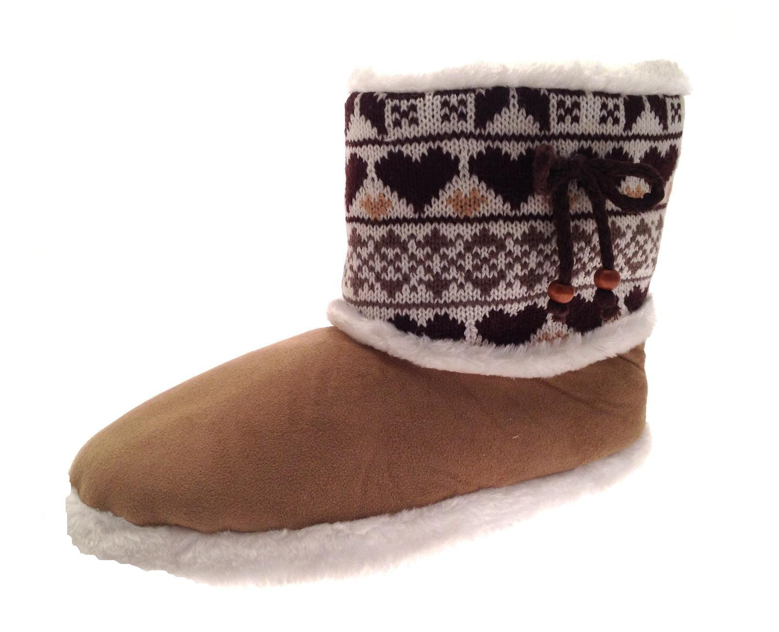 Best Of Womens Slipper Boots Knitted Fur Fleece Booties Girls Knitted Slipper Boots Of Superb 41 Pics Knitted Slipper Boots