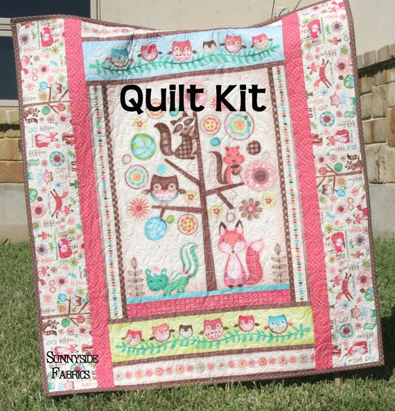 Best Of Woodland Girl Quilt Kit Baby Blanket Sewing Project Craft Baby Blanket Kits Of Delightful 48 Pictures Baby Blanket Kits