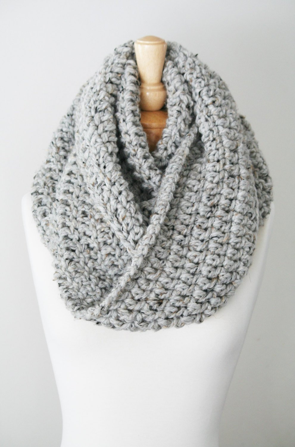 Best Of Wool Blend Knitted Scarf Chunky Knit Infinity Oversized Chunky Knit Scarf Of Top 50 Photos Chunky Knit Scarf