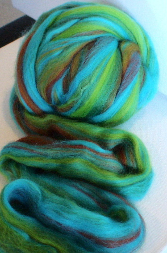 Wool Roving merino silk Custom Blend for spinning by